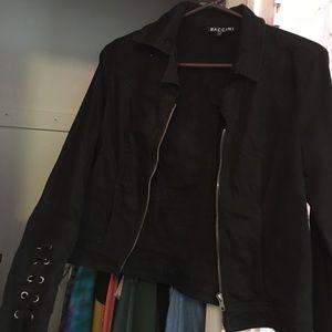 "Black ""denim"" jacket"